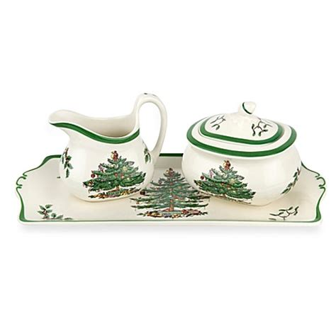 bed bath and beyond christmas tree spode 174 christmas tree 3 piece serving set bed bath beyond