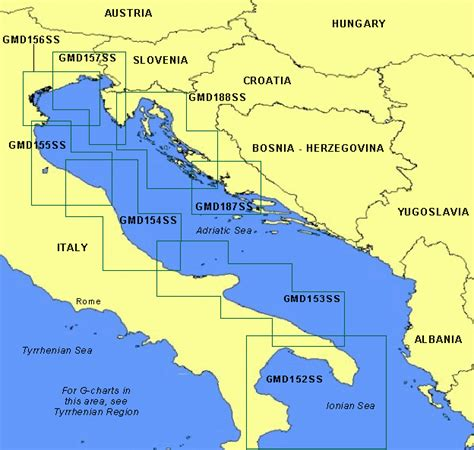 adriatic sea map garmin offshore cartography g charts mediterranean adriatic sea small charts