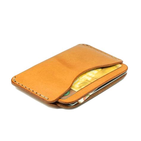 Handmade Leather Card Holder - selling durable handmade vegetable tanned leather id