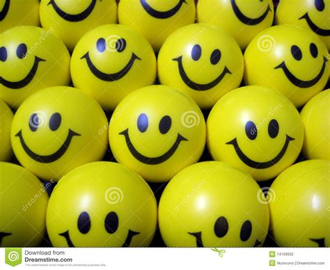 happy smiley face balls stock photography image