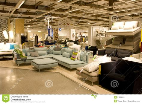 couch shop furniture warehouse big furniture store editorial image image 31065515
