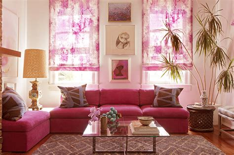 pink living room ideas spring fashion at home by elle decor pop of pink