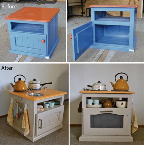 play kitchen from old furniture upcycle us kids kitchen set