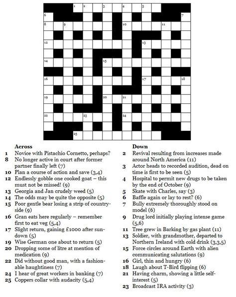printable easy crossword puzzles uk free printable crosswords commoner crosswords