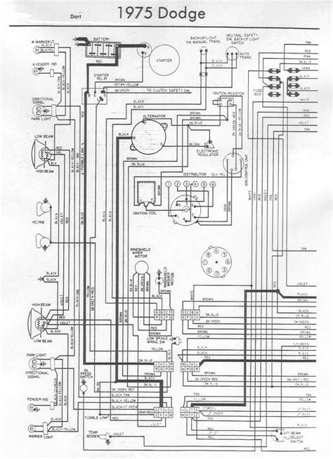 1972 dodge dart wiring diagram 1972 dodge dart wiring