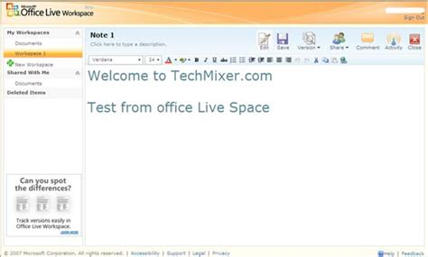 Office Live Office Live Workspace Microsoft Web Office Productivity