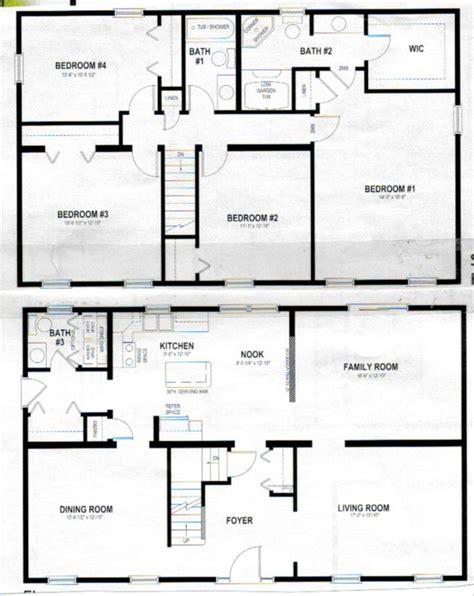 Two Story House Blueprints | 2 story polebarn house plans two story home plans