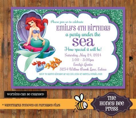 the sea invitations templates the sea invitation mermaid the sea