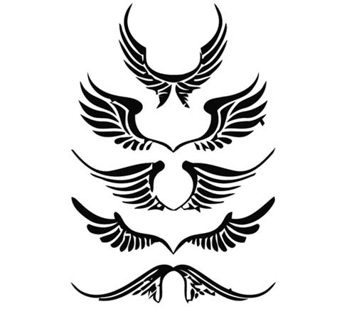 cartoon wing tattoo clipart angel wings clipart best clipart best