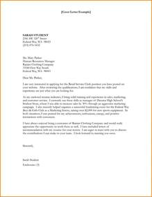 Federal Cover Letter Sle by 6 Federal Cover Letter Financial Statement Form