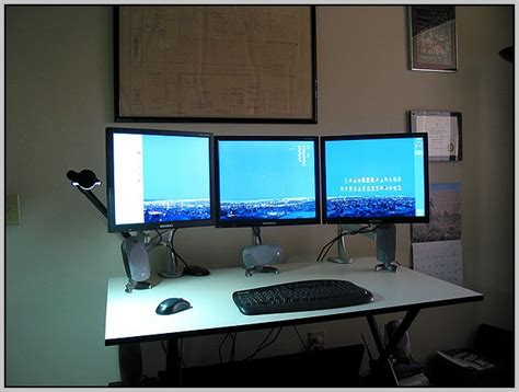 ergonomic desk setup two monitors office desk setupoffice desk setup desk home design