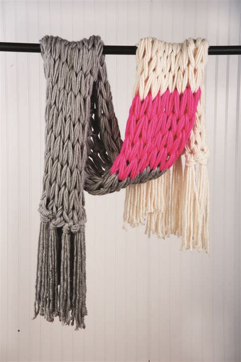 knitting patterns scarf tutorial color block wrap grey fringes and wraps