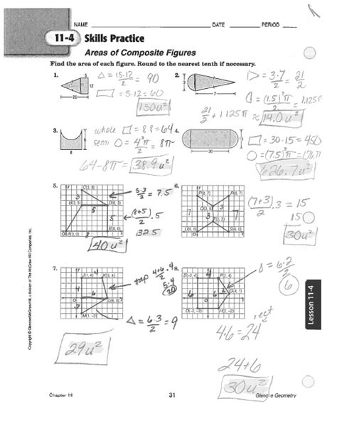 Math Classes Spring 2012 Geometry Homework 11 3 And 11 4