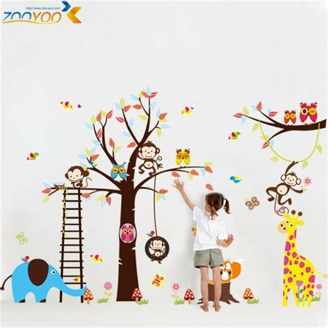 large animal wall stickers aliexpress buy large size animal wall stickers for
