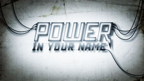 In The Name Of there s power in the name of visions victories