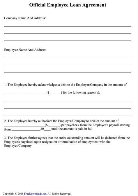 loan repayment agreement template free employee loan repayment agreement template loan agreement