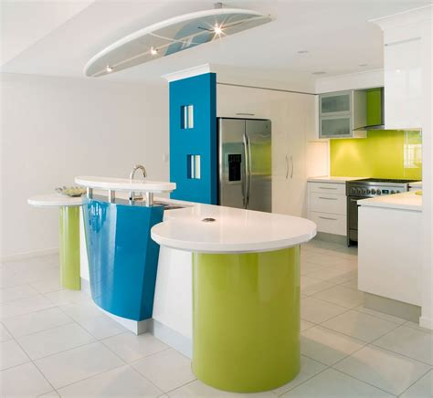 Contemporary Kitchen Colors Colorful Modern Minimalist Kitchen Design Decobizz