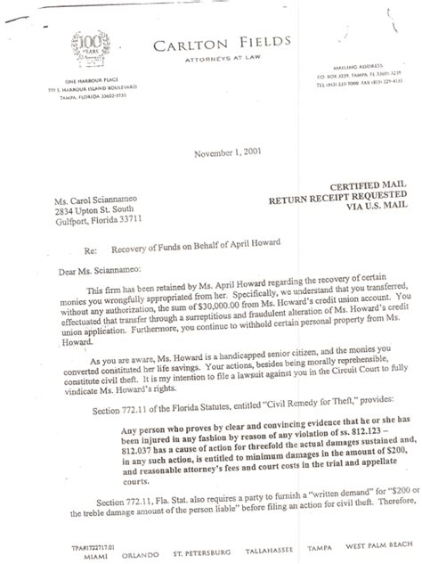 Rent Demand Letter Florida Florida Demand Letter Template Pictures To Pin On Pinsdaddy