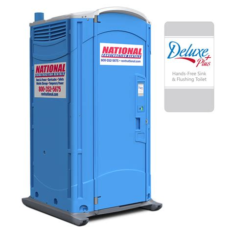 Toilet Portable Deluxe Plus Porta Potty With Flush Portable Toilets National Rent A