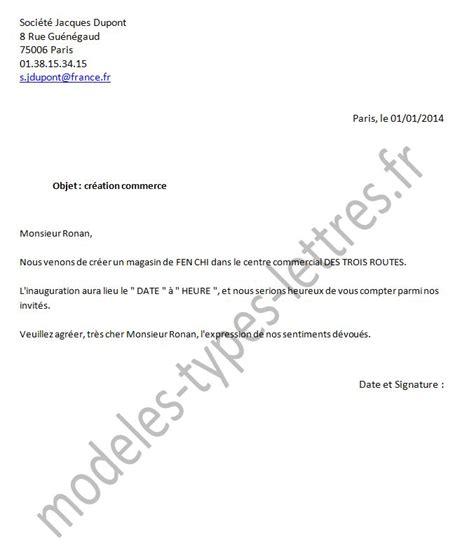 Modele De Lettre D Entreprise Mod 232 Le De Lettre Concernant La Cr 233 Ation D Une Entreprise Dans Un Centre Commercial