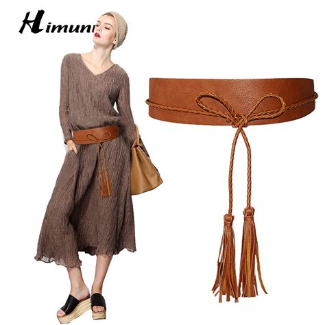 Repeat Trend Wide Belts by Himunu Belt Fashion Cummerbunds Design Tassel