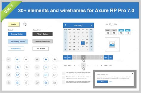 axure rp templates 30 elements for axure pro 7 0 vol 1 templates on