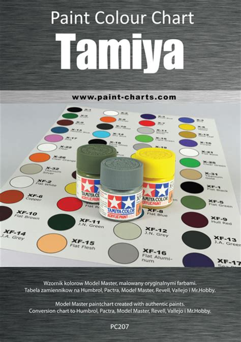 tamiya color chart paint colour chart tamiya 20mm pjb pc207