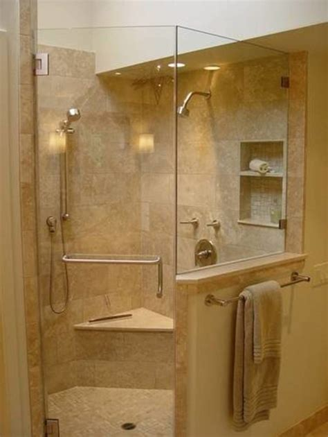 bathroom gorgeous corner shower stall with modern design