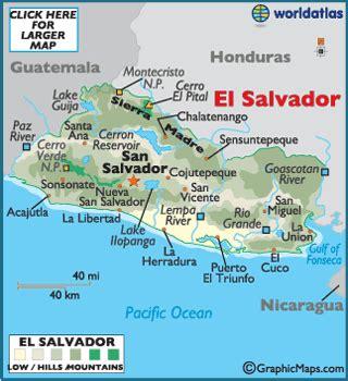 america map el salvador el salvador map geography of el salvador map of el