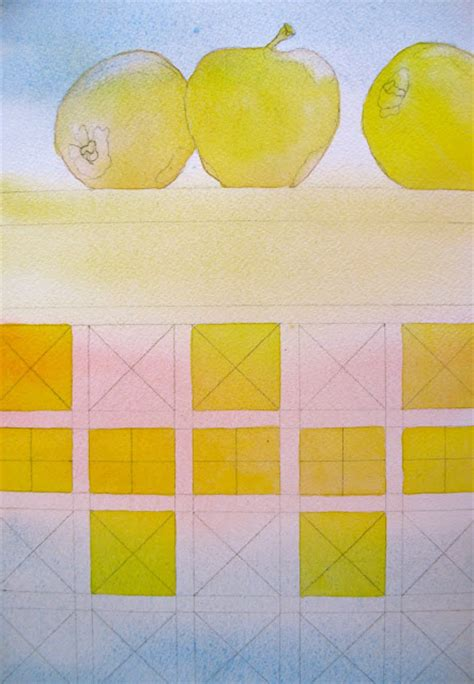 pattern clear yellow the painted prism watercolor workshop painting apples on