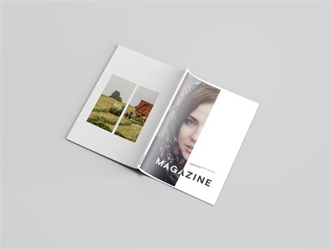letter magazine mockup psd download on behance