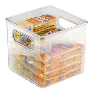 Plastic Pantry Storage by Clear Plastic Storage Bin 8 Inches By 8 Inches In Home