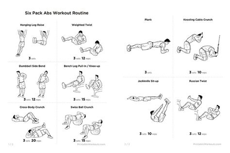 six packs abs exercises for weight loss or