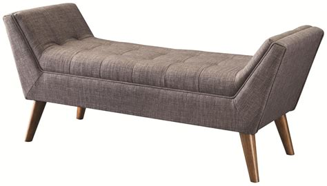 grey fabric bench coaster 500008 grey fabric bench steal a sofa furniture