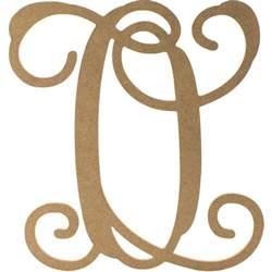 monogram letter 12 quot wood letter vine monogram o ab2210 craftoutlet