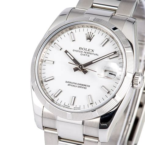Rolex White rolex date 115210 white