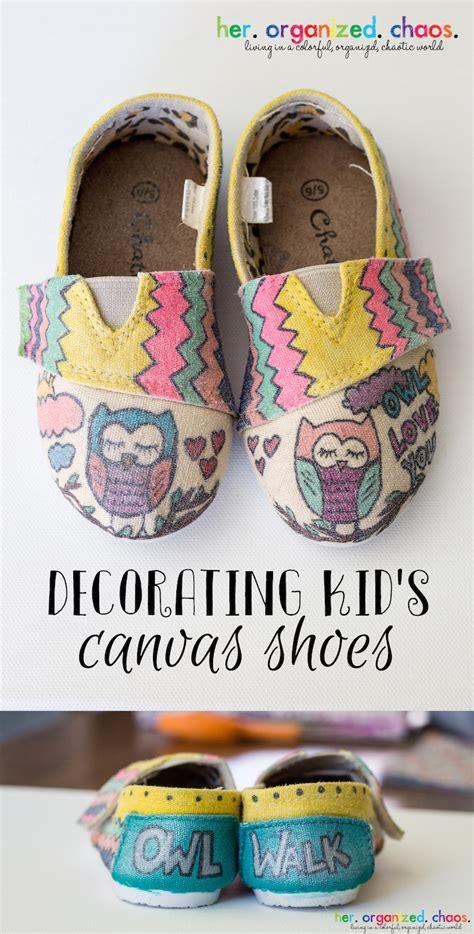 colored canvas shoes