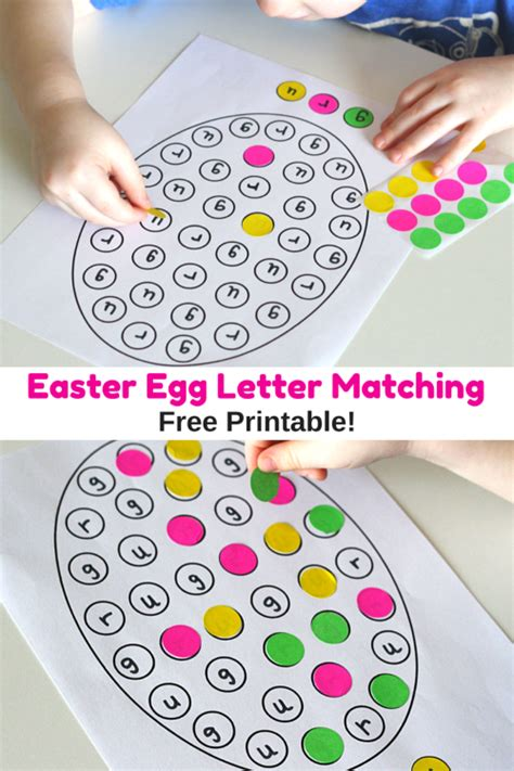 Dots Wall Stickers easter egg letter matching printable
