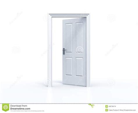 Keyhole Doorway by Opened Door On White Background Stock Illustration Image