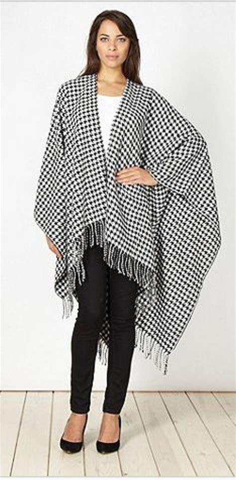 Pashmina Monochrome Kombinasi 11 coat shawl dogtooth houndstooth monochrome wheretoget