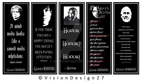 printable bookmarks game of thrones bookmark designs game of thrones edition by jw2011 on
