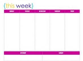 weekly blank calendar template calendar template blank