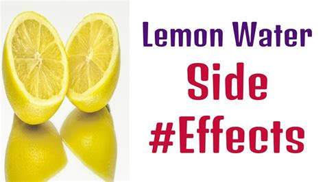 Lemon Detox Water Side Effects by Lemon Water Causes Gas