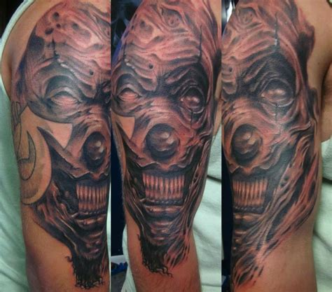 scary clown tattoos the of fate tattoos mathew delamort evil