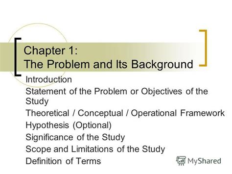 thesis study dissertation background of the study