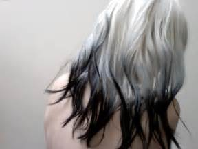 black and white hair color greyscale ombre hair colors ideas
