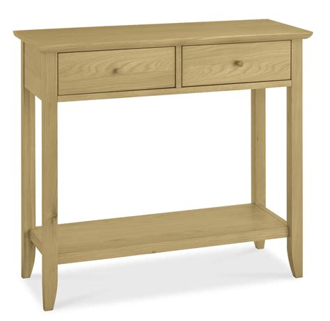 shaker oak console table with drawer oak furniture solutions