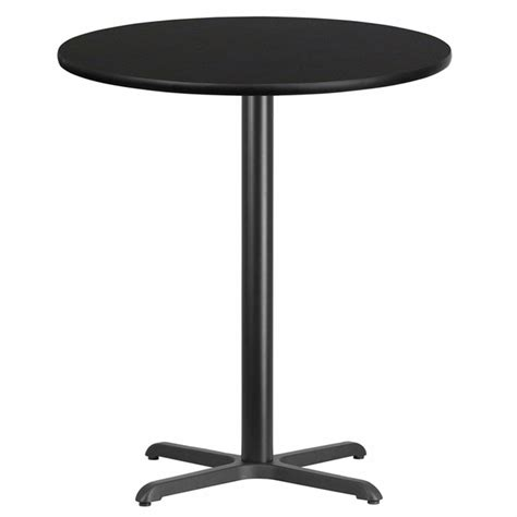 36 bar height table 36 black laminate table top with 30 x 30 bar