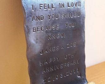 Wedding Anniversary Gifts Made Of Iron by Iron Gift Etsy