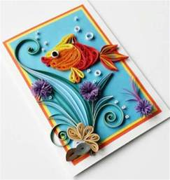Handmade Design - quilling handmade birthday greeting card designs 2015